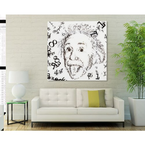 achat tableau einstein noir et blanc design
