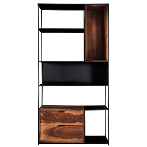 acheter étagère 5 niveaux bois et métal