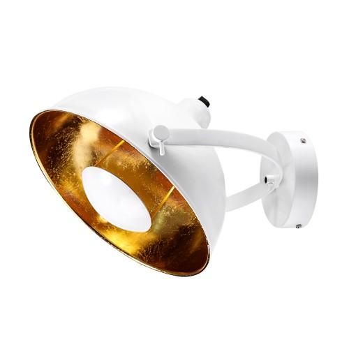 acheter applique blanche metal dore