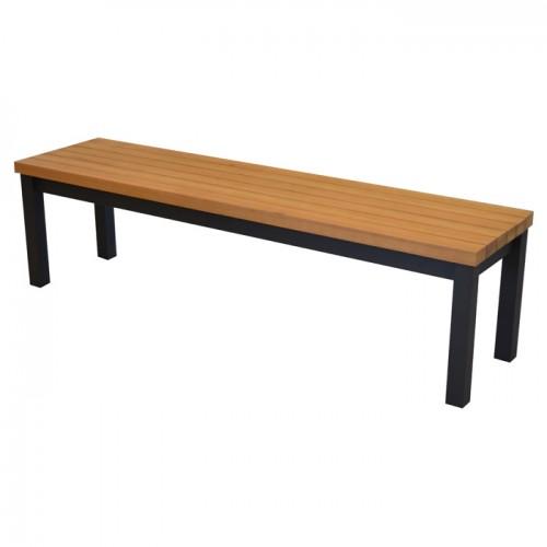 acheter banc en bois et aluminium