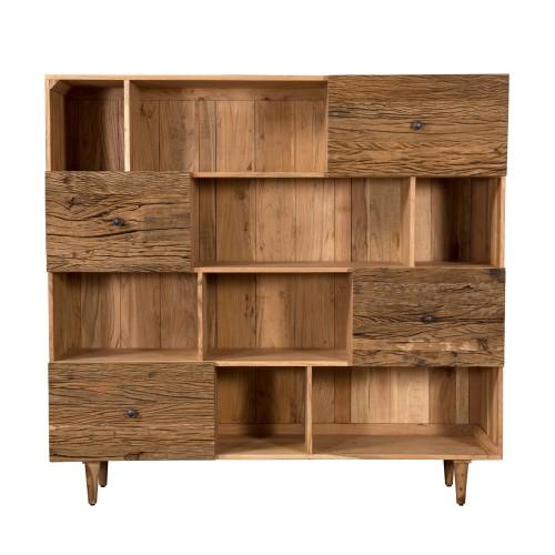 acheter bibliotheque en bois style ethnique