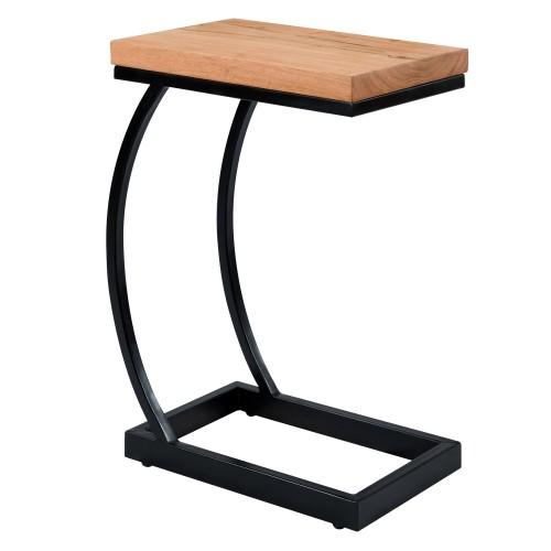 Table d'appoint Baoli en acacia et métal