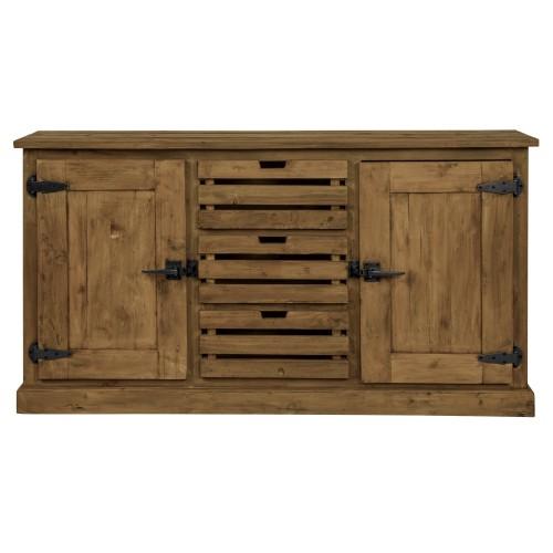 Buffet Ottawa en bois 2 portes 3 tiroirs