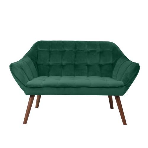 acheter canape 2 places vert velours bois