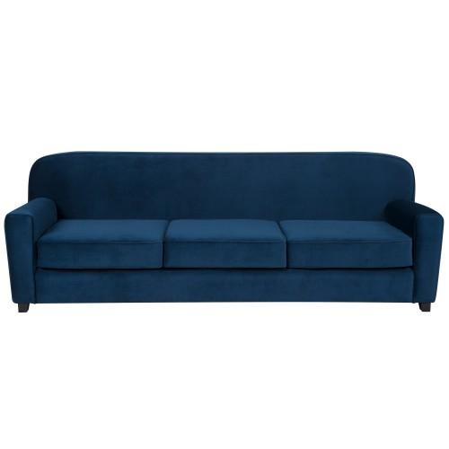 acheter canape 3 places bleu fonce