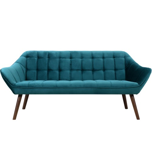 acheter canape 3 places bleu turquoise