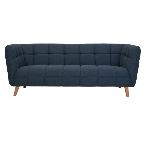 acheter canape 3 places en tissu bleu gris