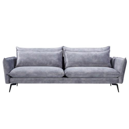 acheter canape 3 places en velours gris