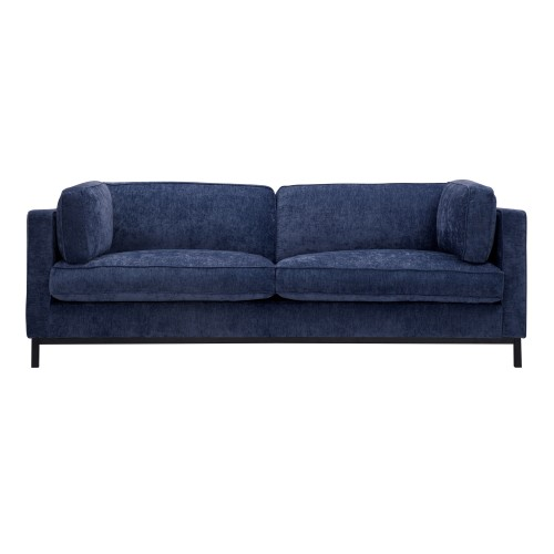 acheter canape bleu en tissu effet velours
