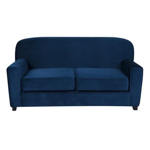 Canapé Gigi 2 places en velours bleu foncé