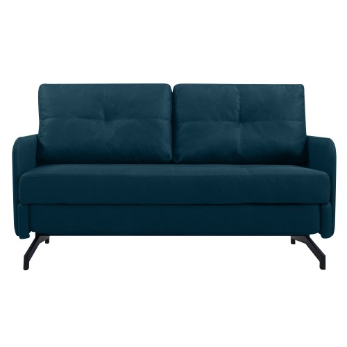 acheter canape bleu fonce pieds metal