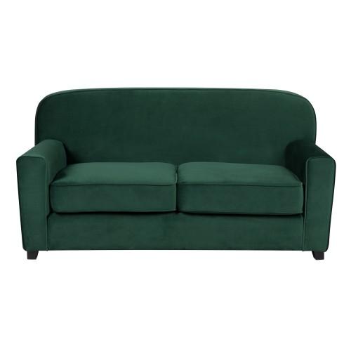 Canapé Gigi 2 places en velours vert foncé