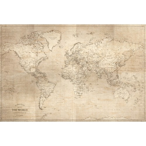 acheter carte monde tableau en verre 90 cm