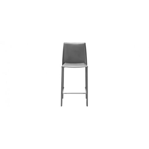 Acheter Chaise Bar Grise Design Cuir
