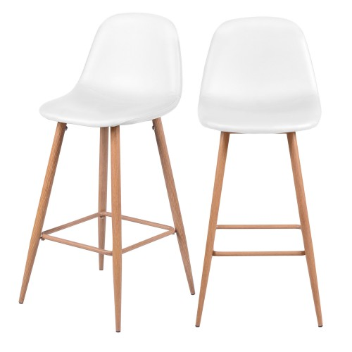 acheter chaise de bar blanche pieds clair
