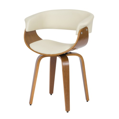 acheter chaise blanche en cuir synthetique