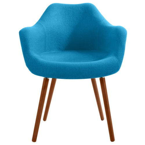 acheter chaise bleu canard tissu