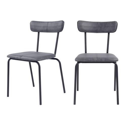 acheter chaise confortable en synthetique et metal