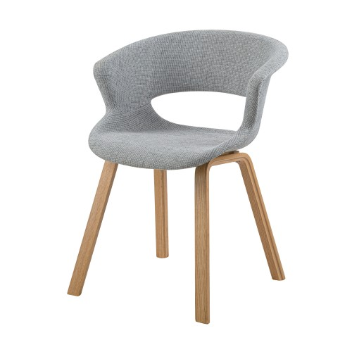 acheter chaise confortable en tissu pieds bois clair