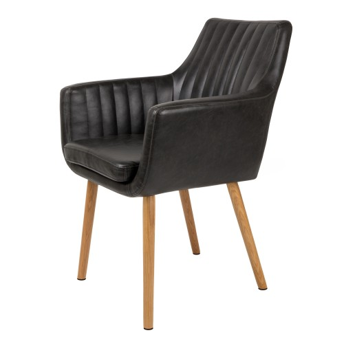 acheter chaise cuir noir