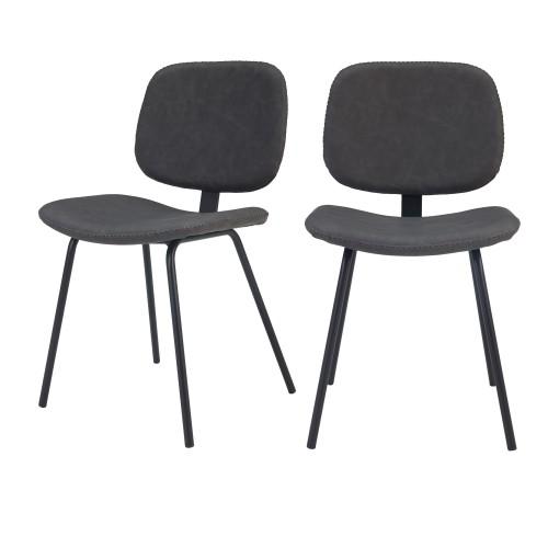 acheter chaise cuir synthetique lot de 2
