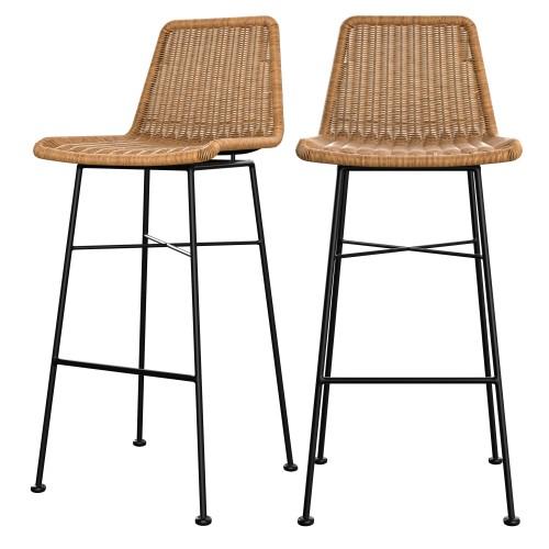 acheter chaise de bar assise en resine tresse
