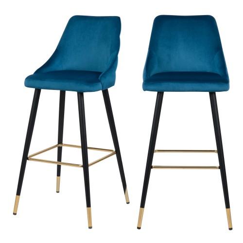 acheter chaise de bar lot de 2 velours