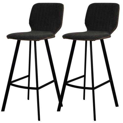 chaise noires de bar