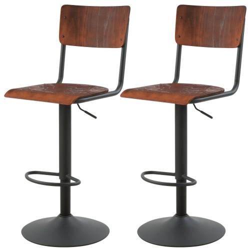 acheter chaise de bar ecolier bois naturel