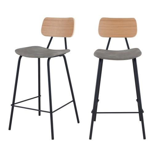Chaise de bar mi-hauteur Madrague 65 cm (lot de 2)