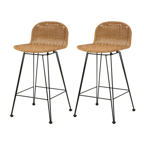 acheter chaise de bar en resine tressee naturelle