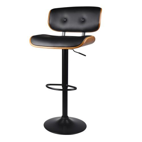 Chaise de bar Melchior noire 62/82 cm