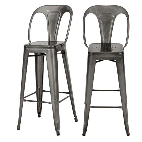 acheter chaise bar indus anthracite