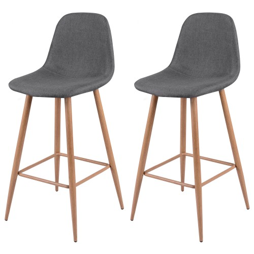 acheter chaise de bar grise tissu
