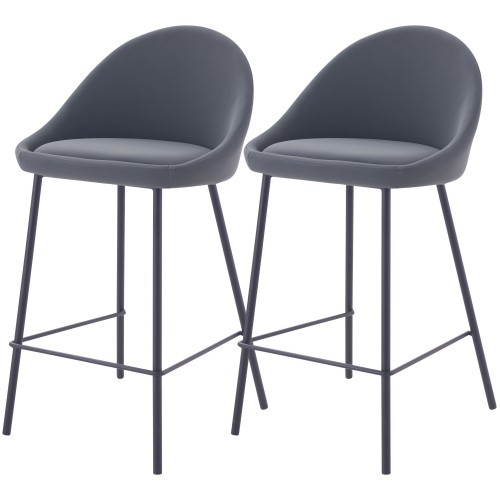 acheter chaise de bar grises lot de 2