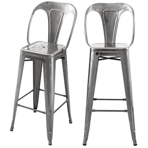 acheter chaise bar indus chrome 76 cm
