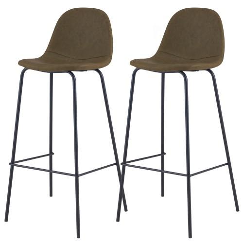 acheter chaise de bar kaki 75 cm