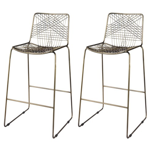 acheter chaise de bar lot de 2 metal