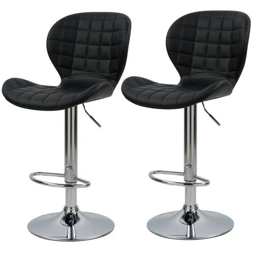 acheter chaise de bar noire en cuir synthetique