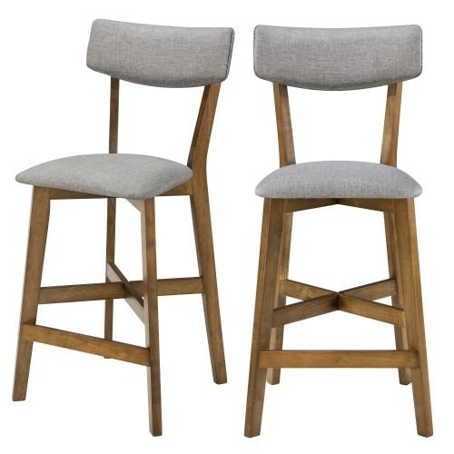 acheter chaise de bar tissu gris