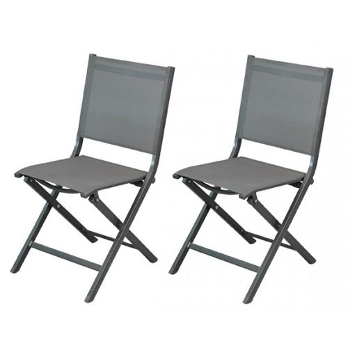 acheter chaise de jardin grise foncee