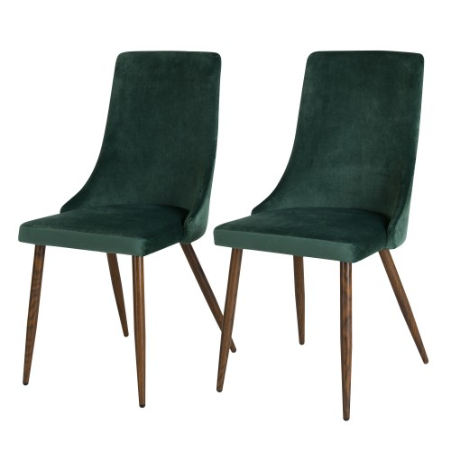 acheter chaise de repas verte en velours