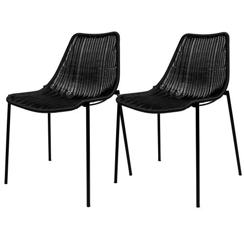 acheter chaise en résine noire design