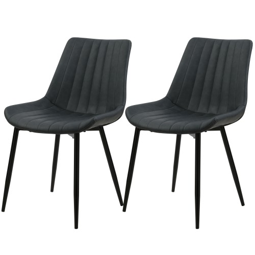 acheter chaise en simili gris fonce