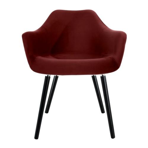 acheter chaise en velours bordeaux