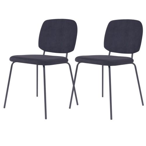 acheter chaise en velours cotele noir
