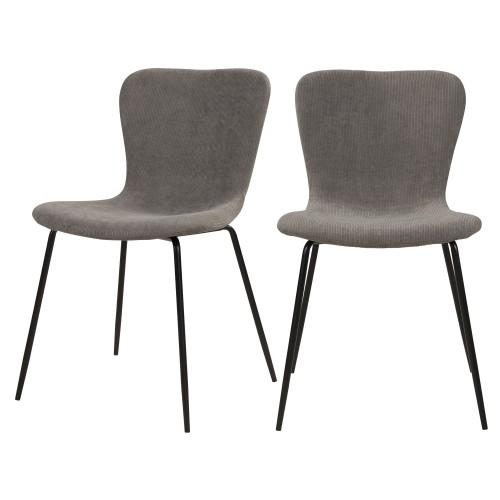 acheter chaise en velours gris