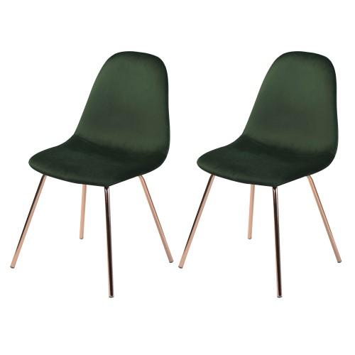 acheter chaise en velours vert art deco