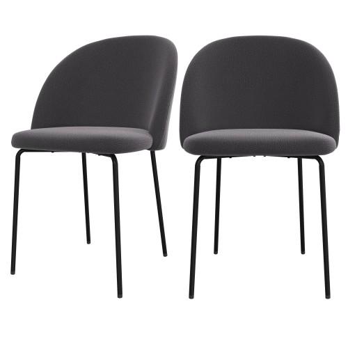 acheter chaise grise lot de 2