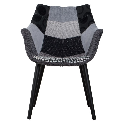 Chaise Anders Patchwork grise - Zuiver